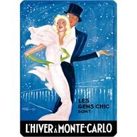 Metal Poster - L'hıver A Monte Carlo- Domergue 15X20cm.