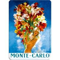 Metal Poster - Monte Carlo Domergue Femme Au Bouqe 15X20cm.