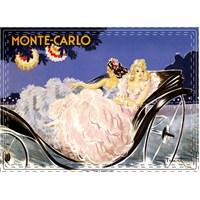 Metal Poster - Monte Carlo Calèche - Icart 15X20cm