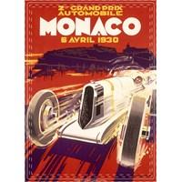 Metal Poster - Monaco 1930 Falcuccı 15X20cm.