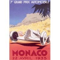 Metal Poster - Monaco 1935 Géo Ham 30X40cm