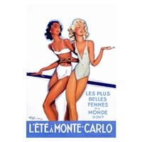 Metal Poster - L'ete A Monte-Carlo - J-G Domergue 30X40cm