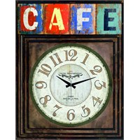 Ahşap Vintage Tarz Duvar Saati 40X30cm