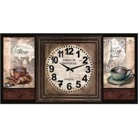 Ahşap Retro Style Duvar Saati 50X35x5cm