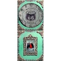 Ahşap Retro Style Duvar Saati 70X30x5cm