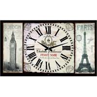 Ahşap Retro Style Duvar Saati 100X65x5cm
