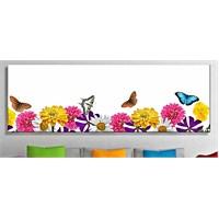 Papatyalar ve Kelebek Kanvas Tablo