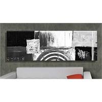 Siyah Beyaz Abstract Kanvas Tablo