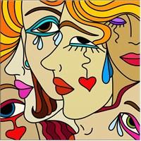 Modern Kadın Çizim Kanvas Tablo