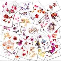 Çiçek Kartları Kanvas Tablo