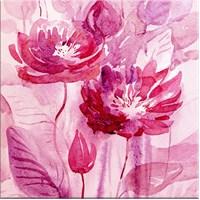 Fuşya Çiçekler Kanvas Tablo