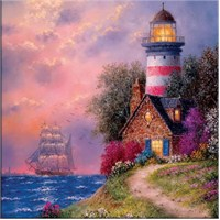 Deniz Feneri Kanvas Tablo