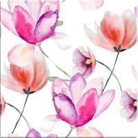 Pembe Çiçek Kanvas Tablo