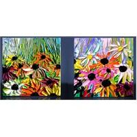 Renkli Papatyalar Kanvas Tablo