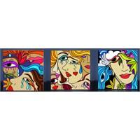 Modern Çizim Kadın Kanvas Tablo