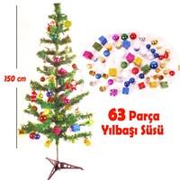Act 150 Cm Yılbaşı Ağacı 62 Parça Dekoratif Süs