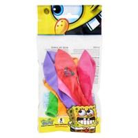 Sponge Bob Poşet İçi 6'Lı Balon (4 Renk Baskılı)