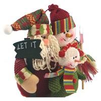 Let It Snow Noel Baba Kardan Adamlı Dekoratif Süs
