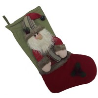 Lüks Hediyelik Yılbaşı Noel Baba Çorap Süs 45 Cm