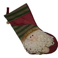 Noel Baba Lüks Hediyelik Yılbaşı Çorap Süs 45 Cm