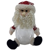 Noel Baba Kapaklı Yılbaşı Kavanozu 25 Cm