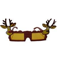 Geyik Figürlü Yeni Yıl Şekilli Gözlük