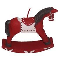 Kırmızı At Figürlü Dekoratif Mum