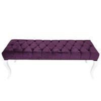 3A Mobilya Lükens Purple Puf - Sehpa
