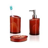 Hiper 3'Lü Banyo Seti Kahverengi