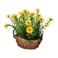 Decotown Renkli Yapay Çiçek Masaüstü Saksı