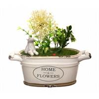 Decotown Seramik Saksıda Masaüstü Dekoratif Yapay Çiçek