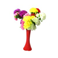 5 Renk Çiçek 40 cm Kırılmaz Kırmızı Vazo