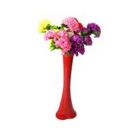 5 Renk Çiçek 60 cm Kırılmaz Kırmızı Vazo