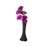 Mor Çiçek 40 cm Kırılmaz Siyah Vazo