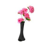 Pembe Çiçek 40 cm Kırılmaz Siyah Vazo