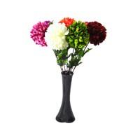 7 Renk Ortanca 40 cm Kırılmaz Siyah Vazo