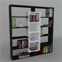 Dekorister Ample Kitaplık Siyah/Beyaz
