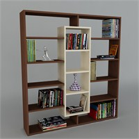 Dekorister Ample Kitaplık Wenge/Akçaağaç