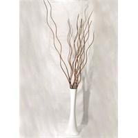15 Adet Kahverengi Dal 60 cm Kırılmaz Beyaz Vazo