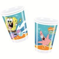Sponge Bob Surfıng Plastik Bardak 180/200Cc (10 Ad)