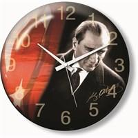 Atatürk Ve Bayrak Duvar Saaati