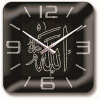 Allah (C.C) Lafsı Taş İşlemeli Duvar Saati