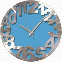 Mavi Alüminyum Kalın Kadran Duvar Saati