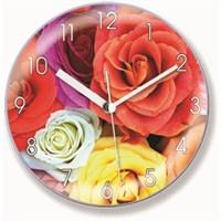 Renkli Güller Mıknatıslı Saat