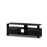 Sonorous Md-9140-B-Blk-Blk Siyah Alüminyum Gövde ,Siyah Kaplama Tv Sehpası