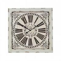 Ahşap Vintage Duvar Saati 30X30 Cm Kare