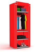 Hepsiburada Home Slim Çok Amaçlı Bez Dolap-Kırmızı