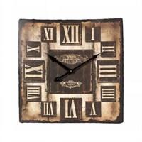 Ahşap Vintage Duvar Saati 50X50 Cm Kare
