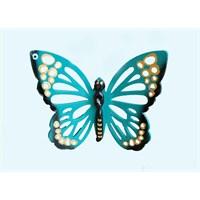 Turkuaz Renkli 3Lü Kelebek Nazarlık