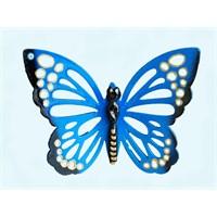Mavi Renkli 3Lü Kelebek Nazarlık